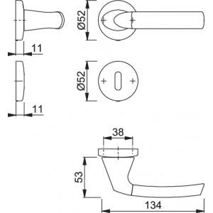 Maniglia Per Porta -  Hoppe - Bruxelles - M129/19K/19KS