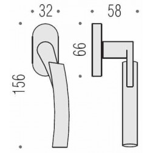 Maniglia Per Finestra - Colombo Design - Martellina Dk Mixa - CB22-DK