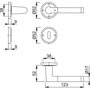 Maniglia Per Porta -  Hoppe - Capri - M1950/15K/15KS