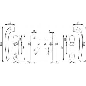 Coppia Maniglia Per Alzante Scorrevole - Monte Carlo - HS-M550/455
