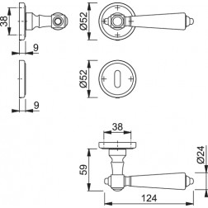 Maniglia Per Porta -  Hoppe - Singapore - M172/15K/15KS
