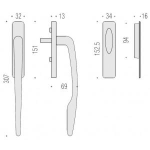 Maniglione Per Alzante Scorrevole - Colombo Design - AM113