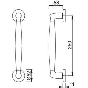 Pull handle - Hoppe - Athinai - M517/19