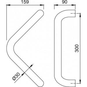 HOPPE - Maniglione Triangolare Per Porta - Serie 5210