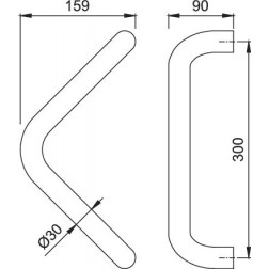 HOPPE - Traingular Pull Door Handle - 5210 Series