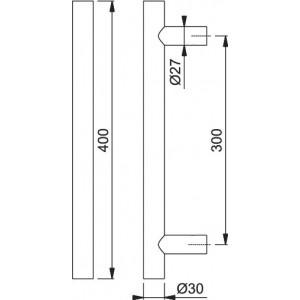 Maniglione Per Porta - Hoppe - E5011 - 1