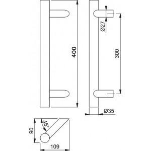 Maniglione Per Porta - Hoppe - E5062 - 1