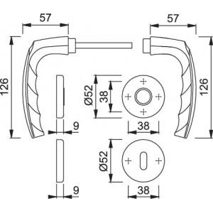 Door Handle - Hoppe - Atlanta - 1530/42K/42KS
