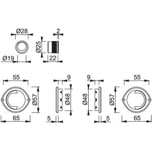Maniglia Per Porta Scorrevole -  Hoppe - Acapulco - Spazio Kit 2 M462
