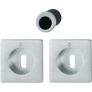 Hoppe - Flush Pull Handle With Keyhole - Square Set M443