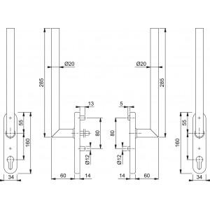 Couple Lift Slide Handle -  Hoppe - Amsterdam - HS-E0400Z/431N