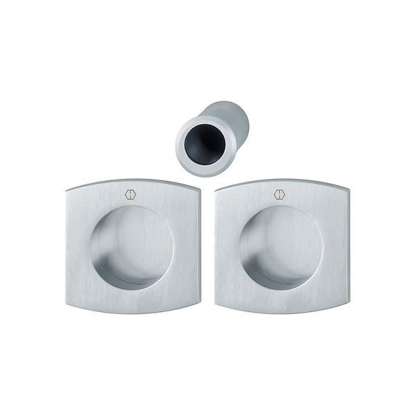 Hoppe - Maniglia Per Porta Scorrevole - Kit Quadrato M462