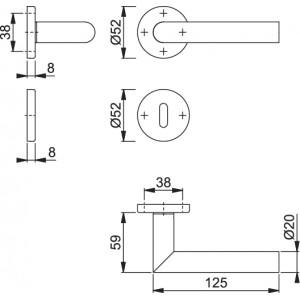 Maniglia Per Porta -  Hoppe - Amsterdam - E1400Z/42K/42KS