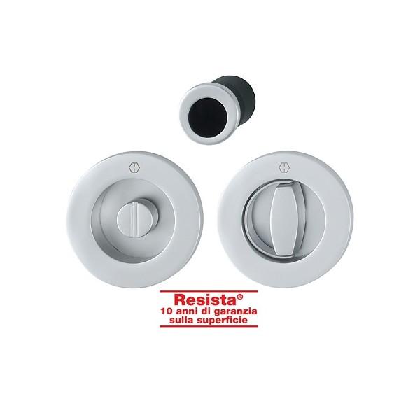 Hoppe - Maniglia Per Porta Scorrevole Con Chiusura/Anello - Kit Tondo M471