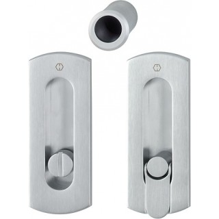 Hoppe - Sliding Pocket Door Handle With Lock - Rectangular Set M463