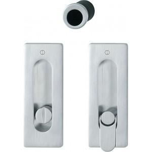 Hoppe - Sliding Pocket Door Handle With Lock - Rectangular Set M464