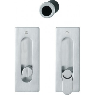 Hoppe - Sliding Pocket Door Handle With Lock - Rectangular Set M464