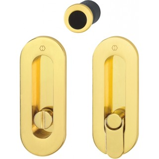 Hoppe - Sliding Pocket Door Handle With Lock - Oval Set M472