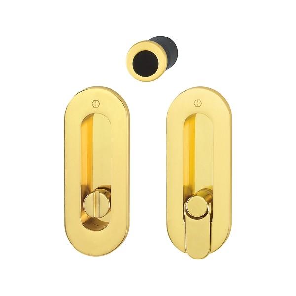 Hoppe - Sliding Pocket Door Handle With Lock - Oval Set M472