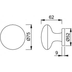 Door Knob For Entrance Door - Hoppe - M84H/80R