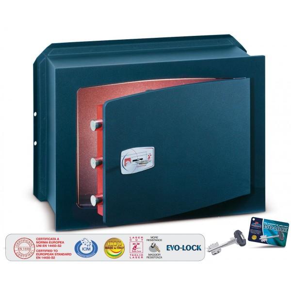 Technomax - Cassaforte a muro con chiave  - Misure esterne mm H210xL270xP200