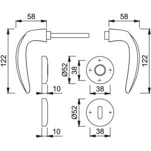 Maniglia Per Porta - Hoppe - Atlanta - M1530/23K/23KS