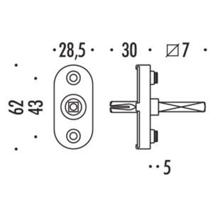 Colombo Design - Steel Tilt/Turn Handle Mechanism