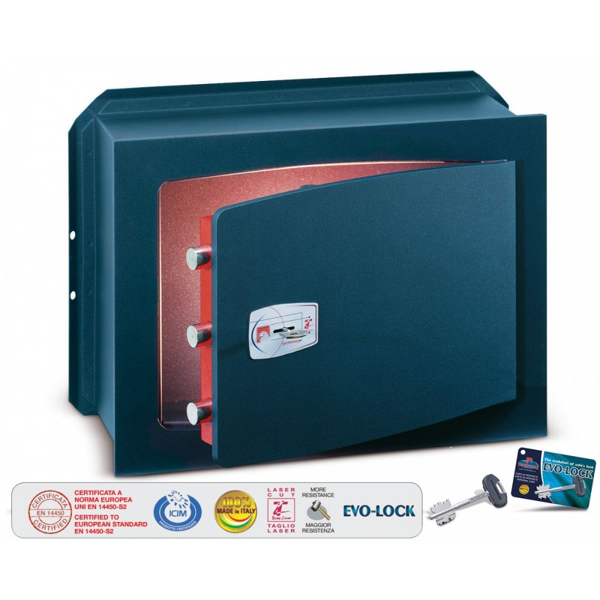 Technomax - Wall Safe With Key - Gold Key Series - H 340 x W 460 x D 200 MM