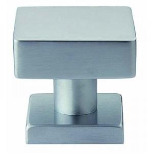 Pomolo Quadrato in Ottone -  Per Porta D'Ingresso - Made In Italy