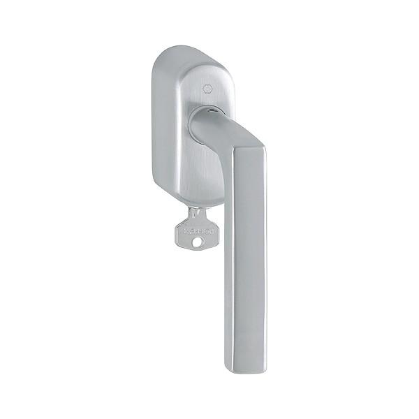 Hoppe - Maniglia Dk In Acciaio Con Chiave - Per Finestra - Dallas E1643Z/US950S