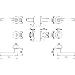 Maniglia Per Porta -  Hoppe - Bergen - M1602/19K/19KS