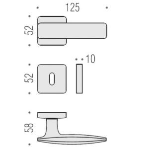 Door Handle - Colombo Design - Bold - PT11 R