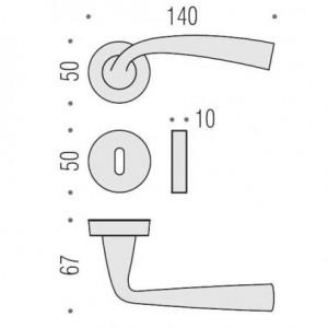 Maniglia Per Porta - Colombo Design - Edo MH11-R