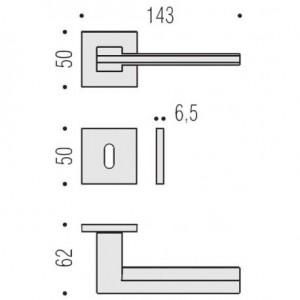 Maniglia Per Porta - Colombo Design - Electra MS11-R