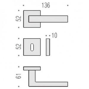 Maniglia Per Porta - Colombo Design - Ellesse BD21-R