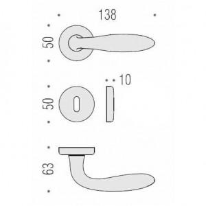 Door Handle - Colombo Design - Mach CD81-R