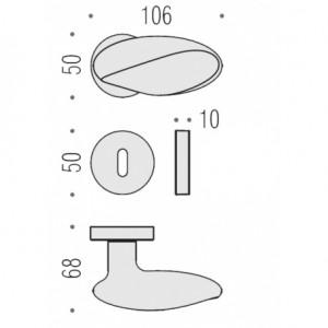 Maniglia Per Porta - Colombo Design - Moon BD15-R