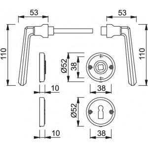Door handle -  Hoppe - Basel - M159/15K-2/15KS-2