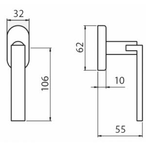 Ghidini - Maniglia Per Finestra - Martellina Dk Cartesio Q7-40
