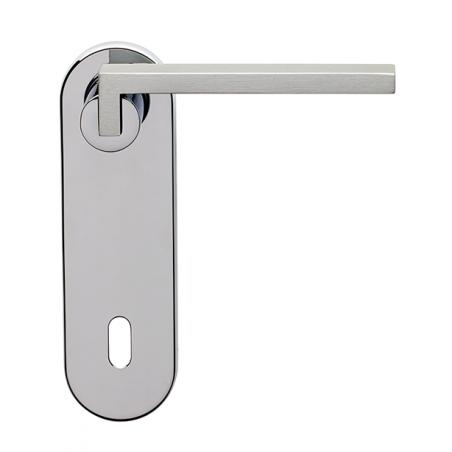 Ghidini - Door Handle on Plate - Cartesio QB-P