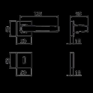 Ghidini - Maniglia Per Porta - Archimede Q8-RBQ
