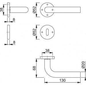Maniglia Per Porta -  Hoppe - Bonn - E150Z/42/42KS