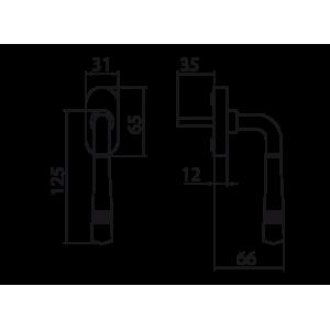 Ghidini - Tilt and turn window handle - Seven Q7-40