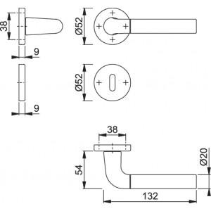 Maniglia Per Porta - Hoppe - Bremen - 1505/42K/42KS