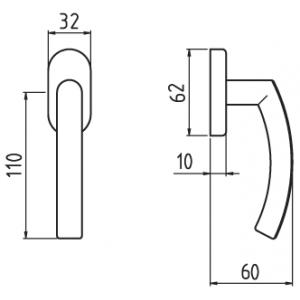 Ghidini - Maniglia Per Finestra - Martellina Dk Idea Q7-40