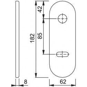Hoppe - Mostrina  Per Porta Blindata Foro Yale - 3218-DB