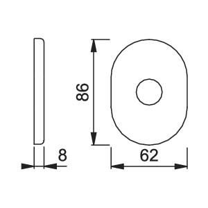 Hoppe - Back Plate For Armored Door - For Hoppe Door Handles - 830