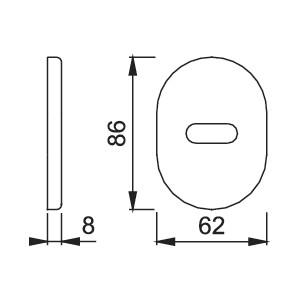 Hoppe - Rosetta Per Limitatore D'Apertura Per Porta Blindata - 830