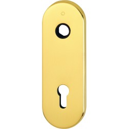 Hoppe - Back Plate For Armored Door - With Yale Key Hole M3218K-PZ