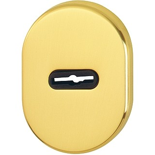 Hoppe - Back Plate For Armored Door - Double Bit Key Hole M830S-DB